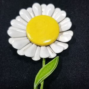 Vintage custom jewelry brooches pin enamel flower
